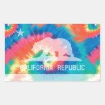 Bandera teñida lazo psicodélico de la república de rectangular altavoz