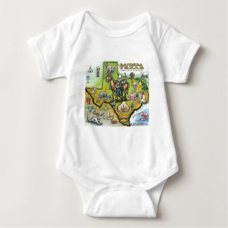 Bandera TEXAS Map Baby Bodysuit