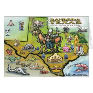 Bandera TEXAS Map Card