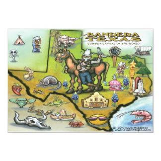 Bandera TEXAS Map Invitation