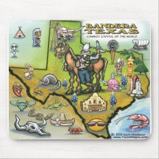 Bandera TEXAS Map Mouse Pad