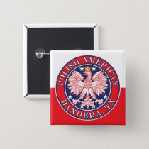 Bandera Texas Polish American Eagle Button