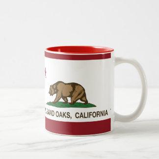 Bandera Thousand Oaks del estado de California Taza De Dos Tonos