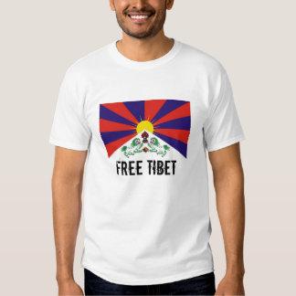 Bandera tibetana, camiseta LIBRE de TÍBET Remera