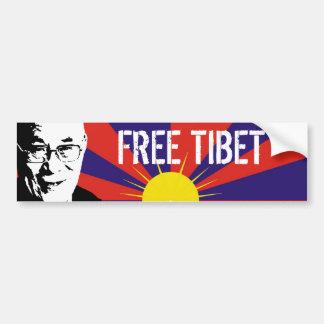 Bandera tibetana Dalai Lama TÍBET LIBRE Pegatina De Parachoque