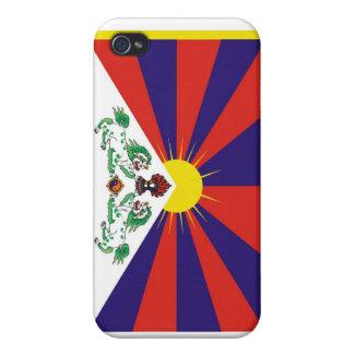 Bandera tibetana iPhone 4/4S carcasas