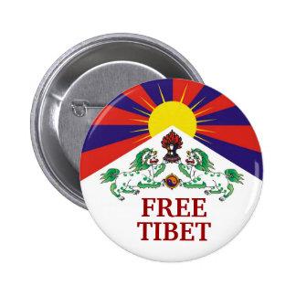 Bandera tibetana, LIBRE, TÍBET Pins