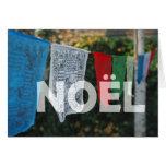 Bandera tibetana Noel del rezo Tarjeta