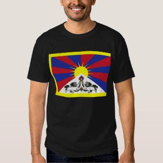 Bandera tibetana + OM mani Camisas