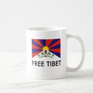 Bandera tibetana, TÍBET LIBRE Taza Básica Blanca