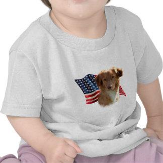 Bandera tocante del perro perdiguero del pato de camisetas