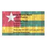 Bandera togolesa de madera tarjetas personales