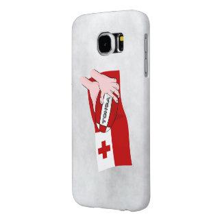 Bandera tongana del rugbi de Reino de Tonga Fundas Samsung Galaxy S6