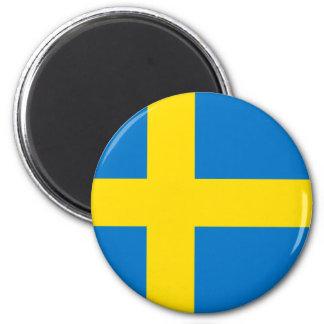 Bandera totalmente sueca imán redondo 5 cm