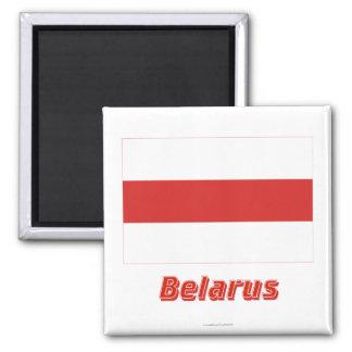 Bandera tradicional de Bielorrusia con nombre Iman De Nevera