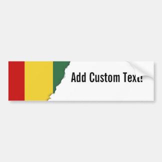 Bandera tradicional de Guinea Pegatina Para Auto