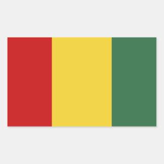Bandera tradicional de Guinea Pegatina Rectangular
