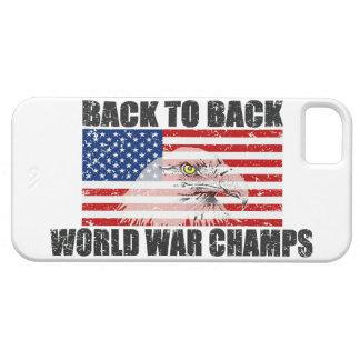 Bandera trasera de los E.E.U.U. de los campeones iPhone 5 Carcasa