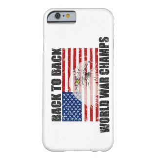 Bandera trasera de los E.E.U.U. de los campeones Funda De iPhone 6 Barely There