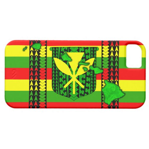 Bandera tribal de Kanaka Maoli de la isla iPhone 5 Cárcasas