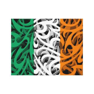 Bandera tribal de la pintada de Irlanda Lona Envuelta Para Galerias