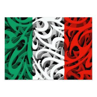 """Bandera tribal de la pintada de Italia Invitación 5"""" X 7"""""""