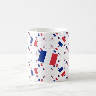 Bandera tricolora de Francia en las capas múltiple Tazas