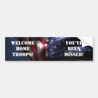 Bandera Tropa-Americana casera agradable Pegatina Para Auto