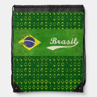 bandera tropical del brasilen@o del green&yellow d mochila