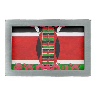 Bandera Tuko Pamoja de Kenia Hebillas Cinturon Rectangulares