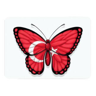 """Bandera turca de la mariposa invitación 5"""" x 7"""""""