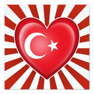 Bandera turca del corazón con la explosión de la anuncio