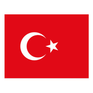 Bandera turca postales
