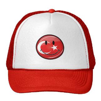 Bandera turca sonriente gorro de camionero