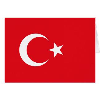 Bandera turca tarjeta de felicitación