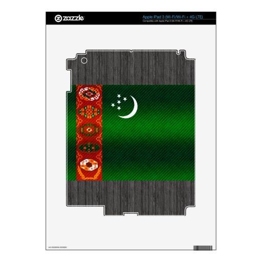 Bandera turcomana pelada moderna iPad 3 pegatina skin