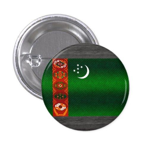 Bandera turcomana pelada moderna pin redondo de 1 pulgada