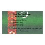Bandera turcomana pelada moderna tarjeta de visita