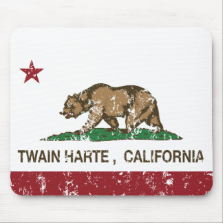 Bandera Twain Harte de la república de California Alfombrillas De Raton