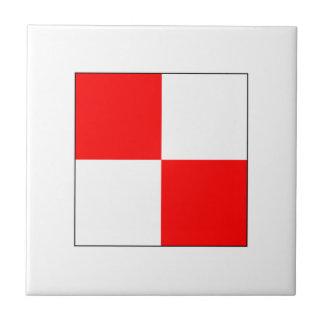 Bandera U del ICS Azulejo Cuadrado Pequeño