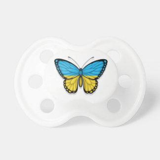 Bandera ucraniana de la mariposa chupete de bebe