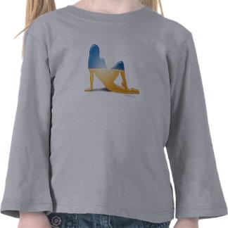 Bandera ucraniana de la silueta del chica camisetas