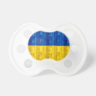 Bandera ucraniana de madera chupetes de bebe
