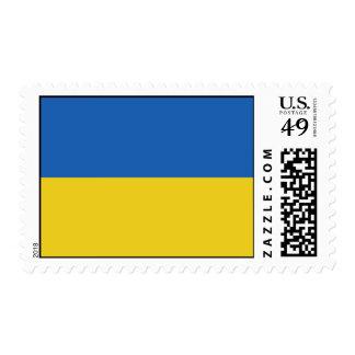 Bandera ucraniana estampilla