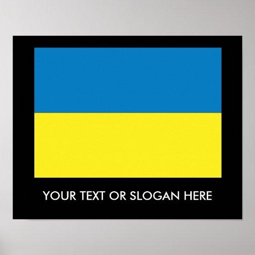 Bandera ucraniana impresiones