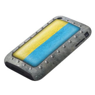 Bandera ucraniana industrial carcasa though para iPhone 3