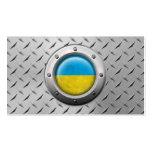 Bandera ucraniana industrial con el gráfico de ace