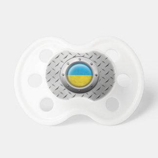 Bandera ucraniana industrial con el gráfico de ace chupetes de bebé