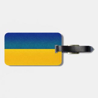 Bandera ucraniana pelada moderna etiqueta para maleta