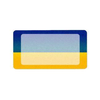 Bandera ucraniana pelada moderna etiquetas de dirección